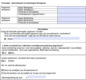 Aanvullende voorzieningen werkgever